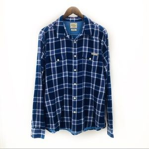 LUCKY BRAND  Button Up Plaid Long SleeveShirtLarge